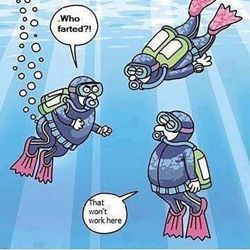 Diver with gas