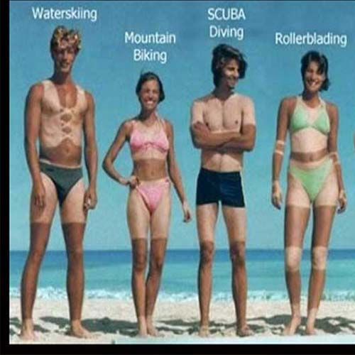 bad tan lines from different sports