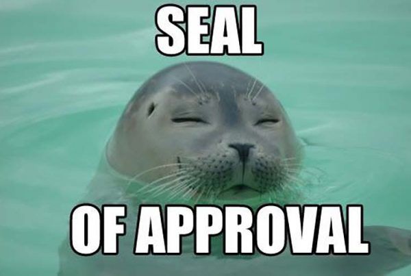 An approving Seal
