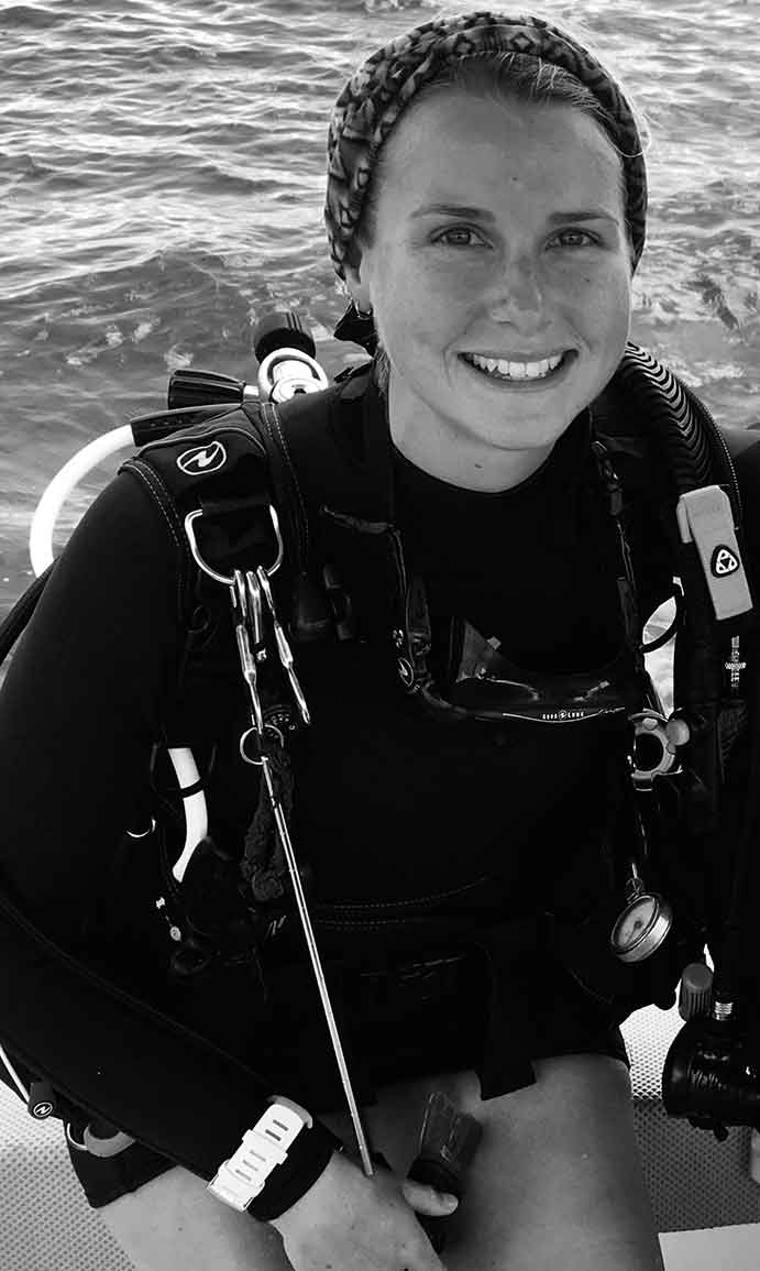 B&W Pic of Diver