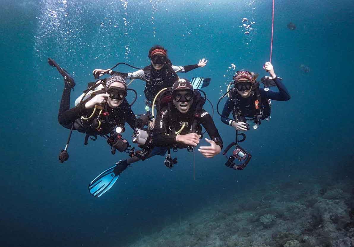 A group of divers