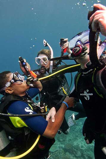 How to prepare for a diving emergency is a crucial part of the rescue diver course.